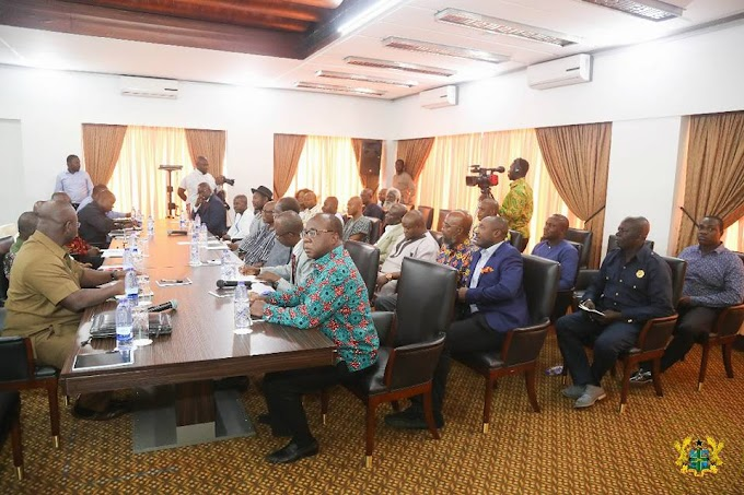 President Akufo-Addo Meets Leaders Of Political Parties