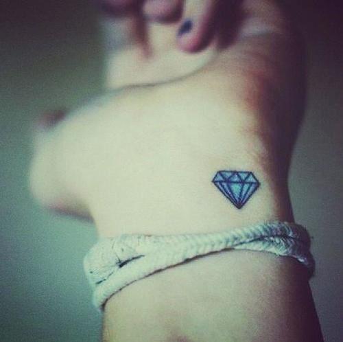 Hình xăm kim cương nhỏ, Tattoo kim cương 3D đẹp nhất