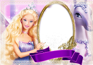 Barbie: Free Printable Frames or Invitations