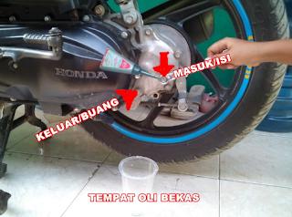 Cara Mengganti Oli Gardan Pada Motor Matic