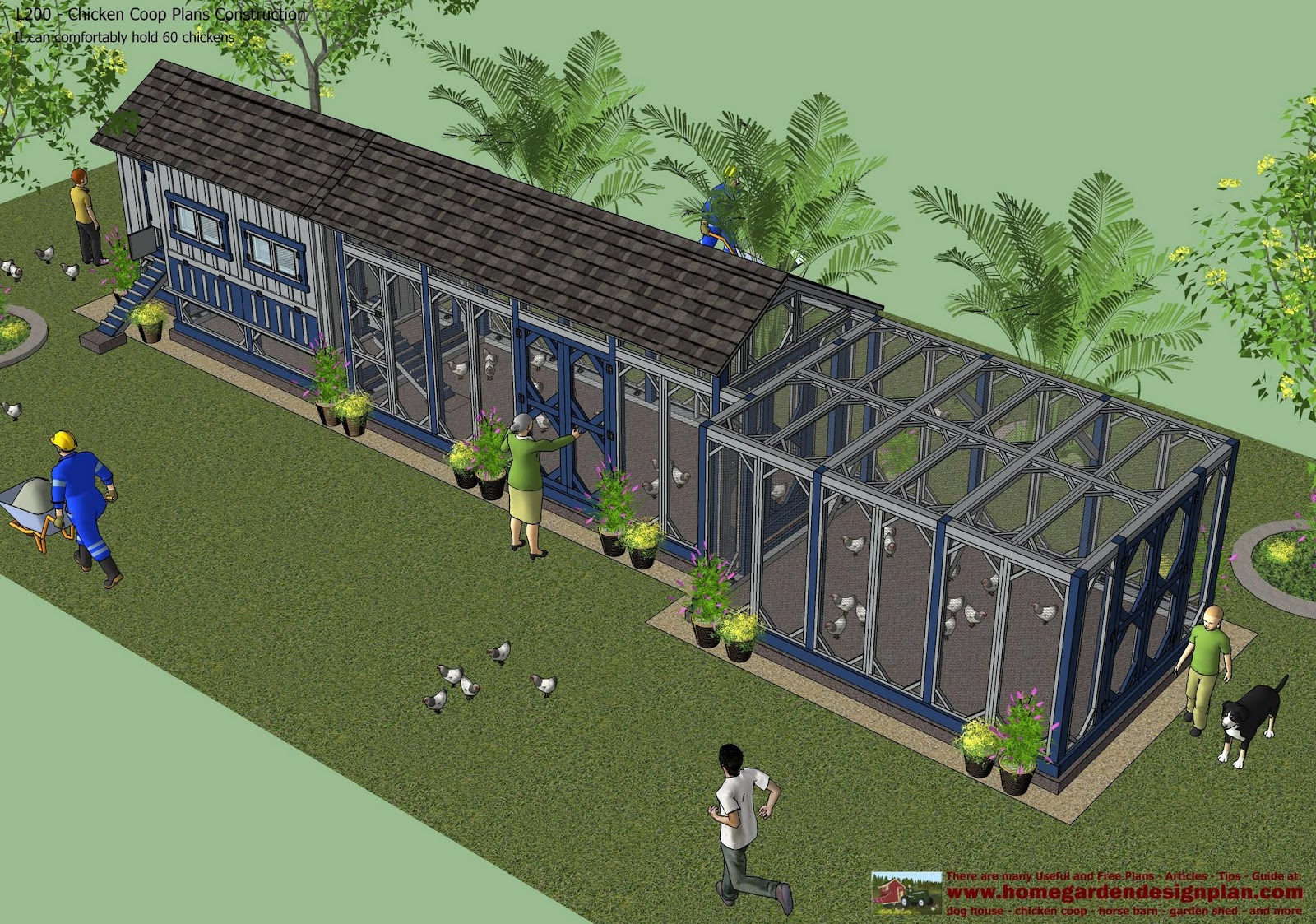 Home garden plans l200 chicken coop plans construction for House builder