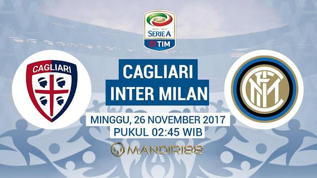 Inter Milan akan bertandang ke Sardegna Arena Berita Terhangat Prediksi Bola : Cagliari Vs Inter Milan , Minggu 26 November 2017 Pukul 02.45 WIB
