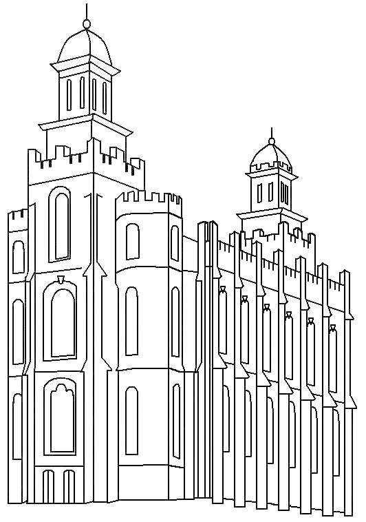 our deseret home  temple coloring sheets