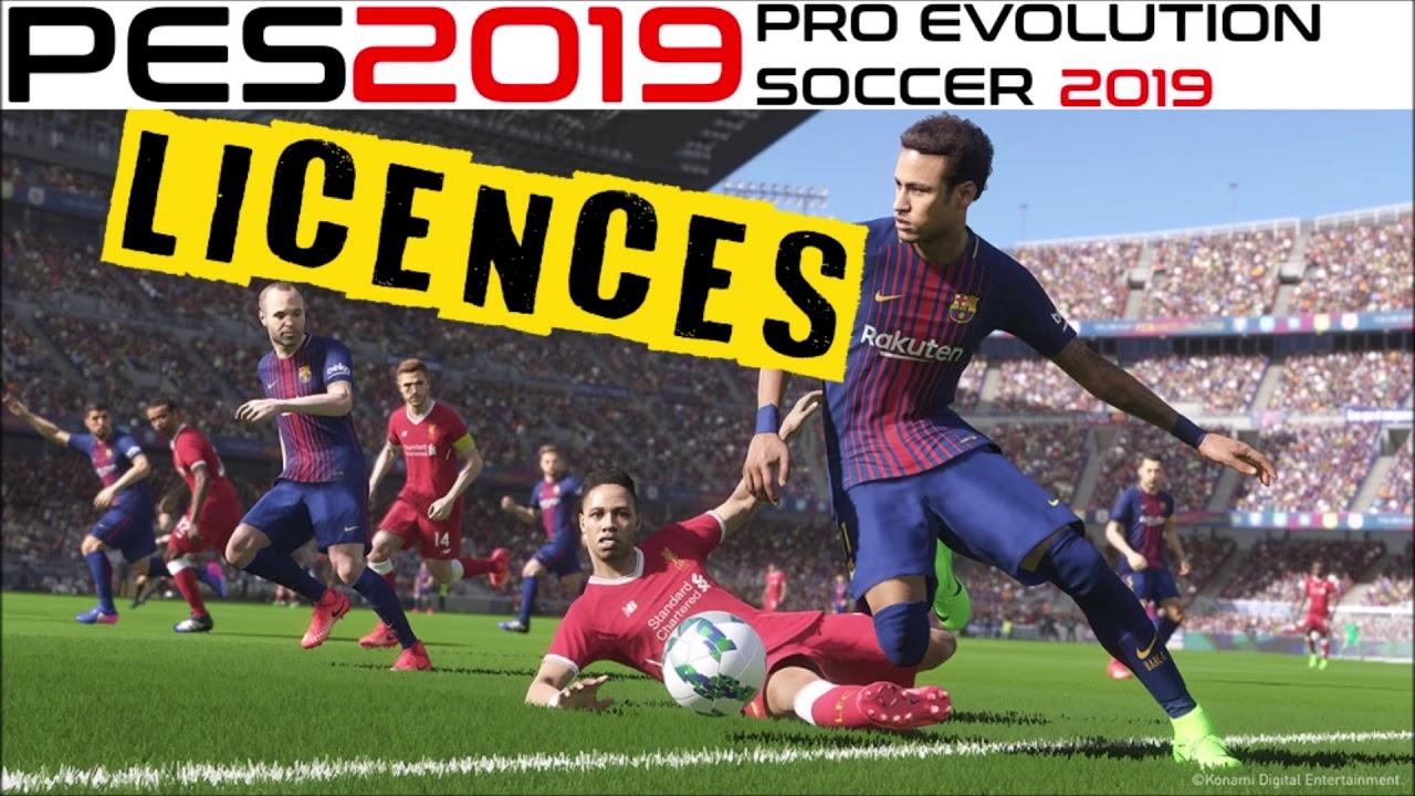 PES 2019 License All Teams - V2 - Last Updated 09/10/2018