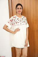 Lavanya Tripathi in Summer Style Spicy Short White Dress at her Interview  Exclusive 301.JPG