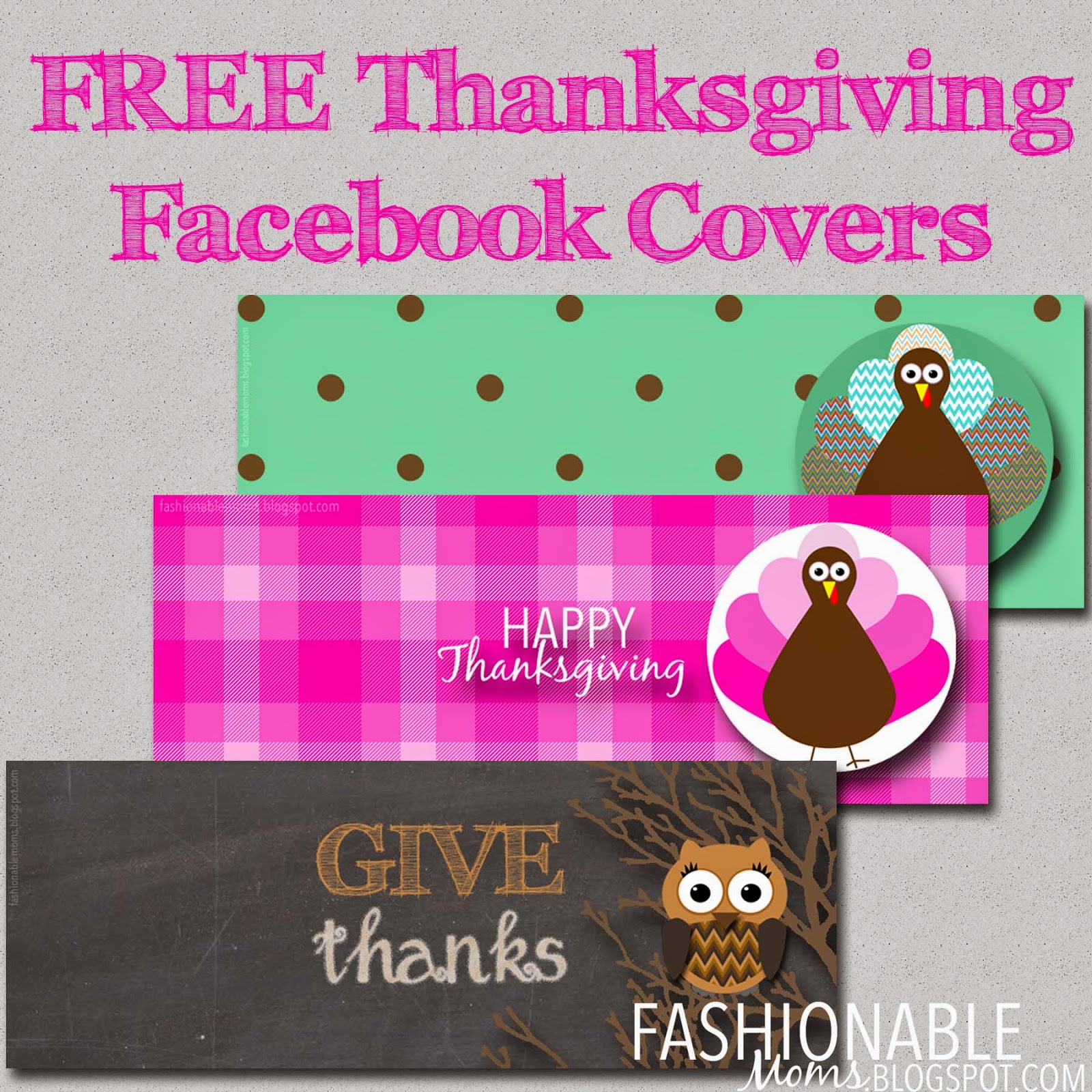 My Fashionable Designs Free Thanksgiving Facebook Covers