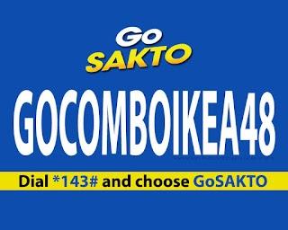 GOCOMBOIKEA48 – 1GB data, All Net Texts + Unli Calls to Globe/TM/Cherry/ABS