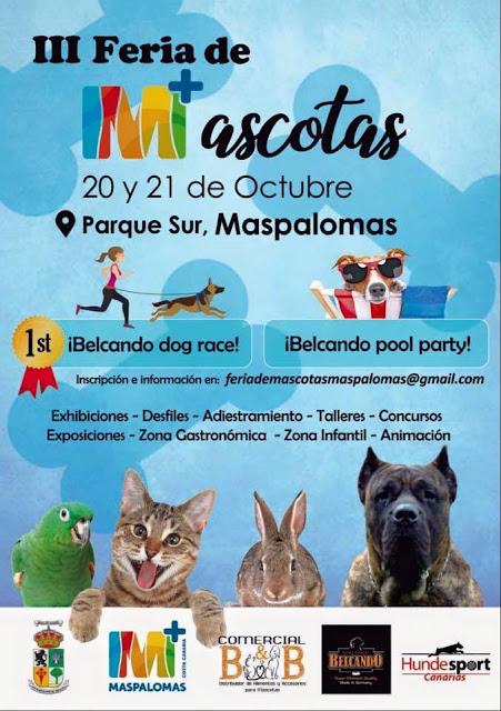 3ª FERIA DE MASCOTAS EN MASPALOMAS !!!