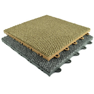 Greatmats basement raised carpet tile plastic base