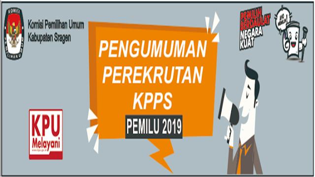 Pengumuman Perekrutan Anggota KPPS Pemilu 2019 Kabupaten Sragen