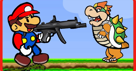 Mario Bomb Pusher Nintendo Shooting Game Walkthrough Levels 1-4