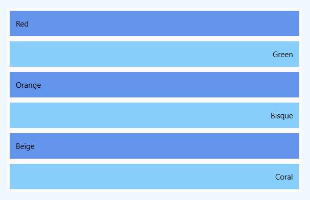 UWP - ListView item margin example