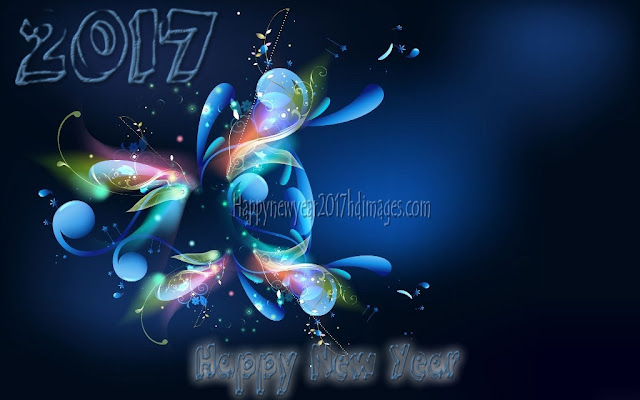 Happy New Year 2017 Full HD 3D Background