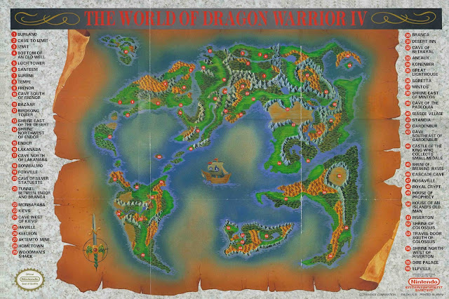 Mapa Dragon Warrior IV