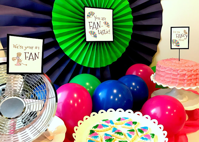 A FAN party!  FAN puns, gifts and treats.