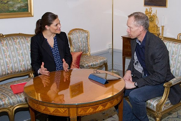 Princess Victoria Met With Professor Johan Fredrik Rockström