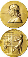 Image 1: Pulitzer Medal Franklin; Pulitzer Medal Printer below it