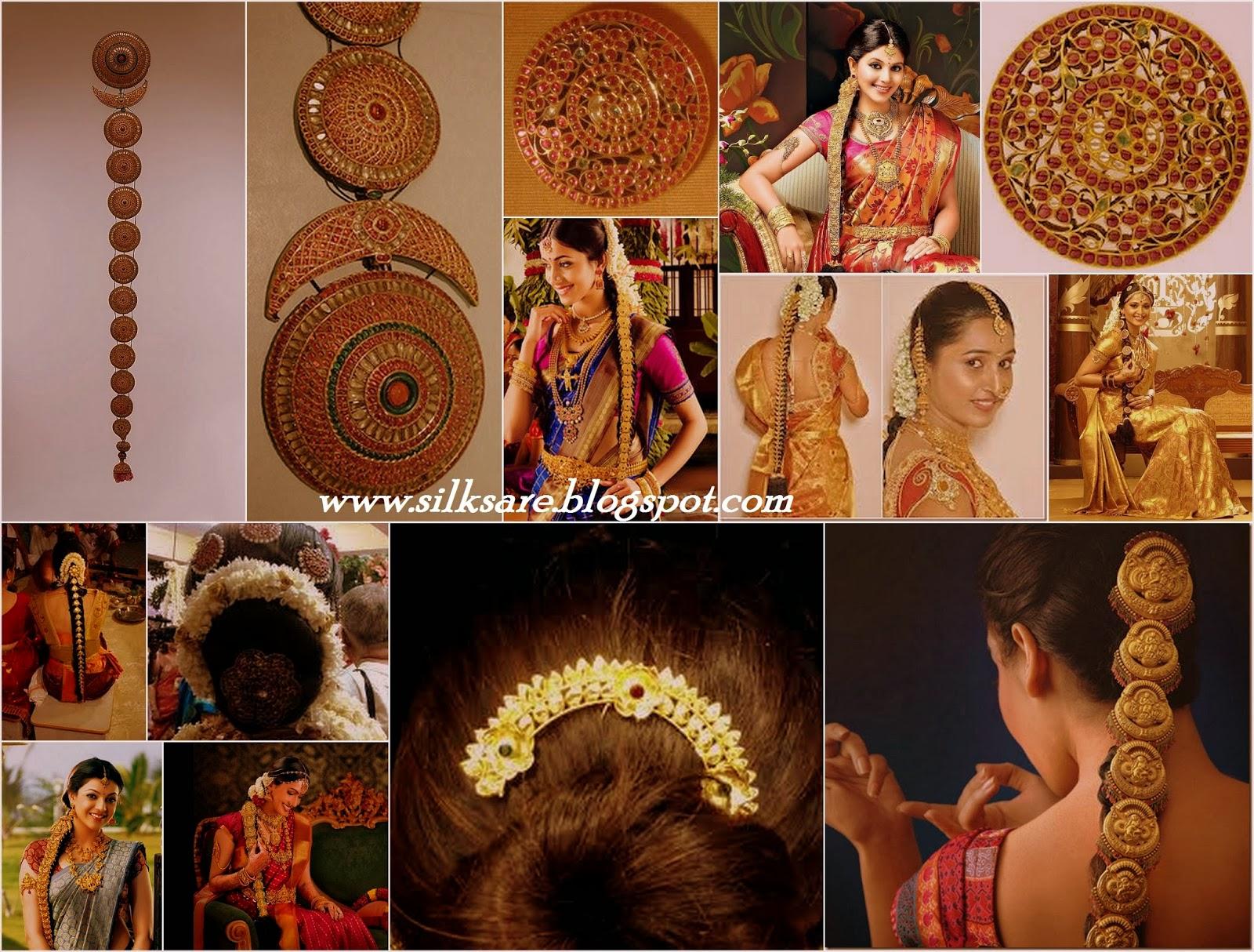LATEST INDIAN WEDDING SILK SAREE,JEWELLERY,WEDDING HAIR ...