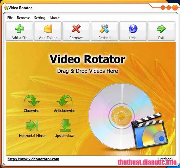 Download Video Rotator 4.3 Full Cr@ck - Phần mềm xoay video