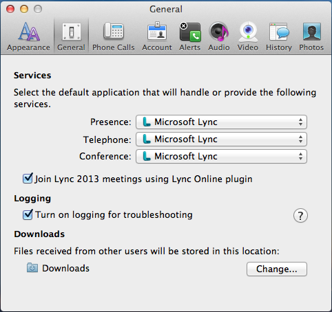 OSX TODAY: Microsoft Lync for MAC 2011 Debugging connection
