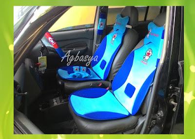 Cover Jok Aksesoris Interior Mobil 5in1 Doraemon