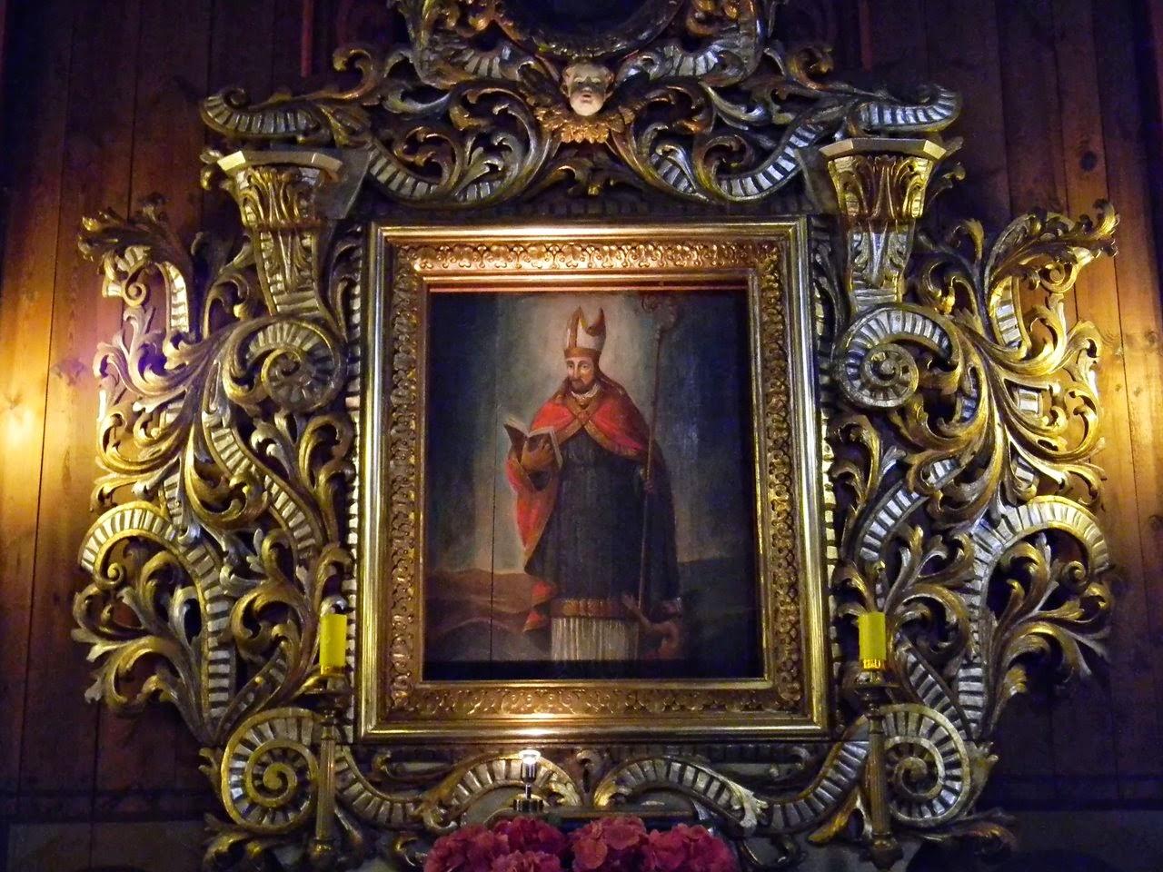 bogata rama, kościół w Bukowcu, utrwalone w drewnie