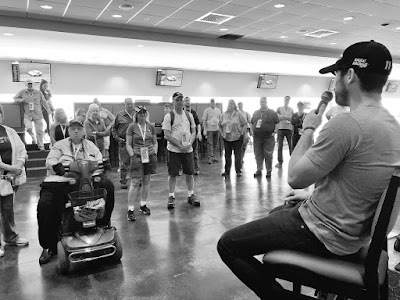 Taking Some Time After the Driver's Meeting to Talk to Some #NASCAR Fans