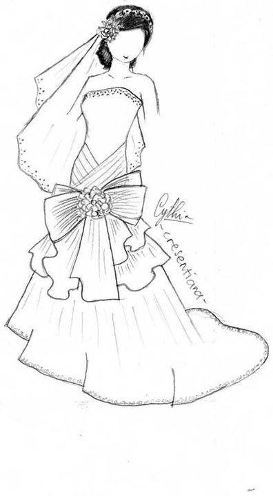 Gambar Desain Gaun Pesta Pendek