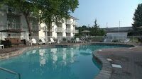 Heated outdoor pool near Pigeon Forge