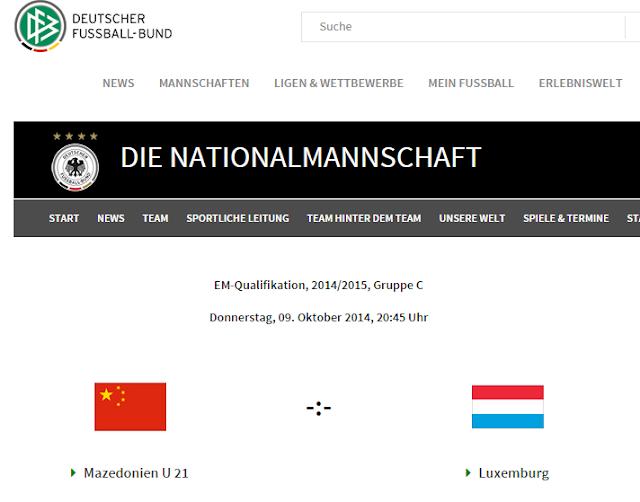 DFB Homepage verpasst Makedonien chinesische Flagge