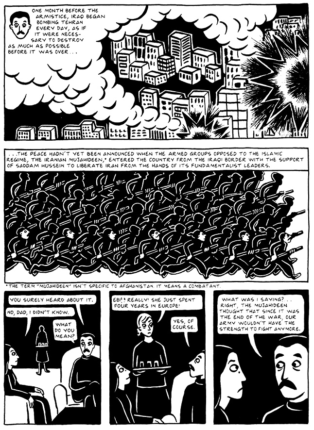 Read Chapter 10 - The Return, page 100, from Marjane Satrapi's Persepolis 2 - The Story of a Return