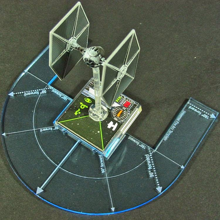 X Wing Maneuver Templates   Tabletop Fix Litko Game Accessories X Wing Templatesapplied
