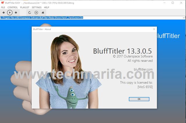 تحميل برنامج مونطاج الفيديو والصوتblufftitler بجودة عالية