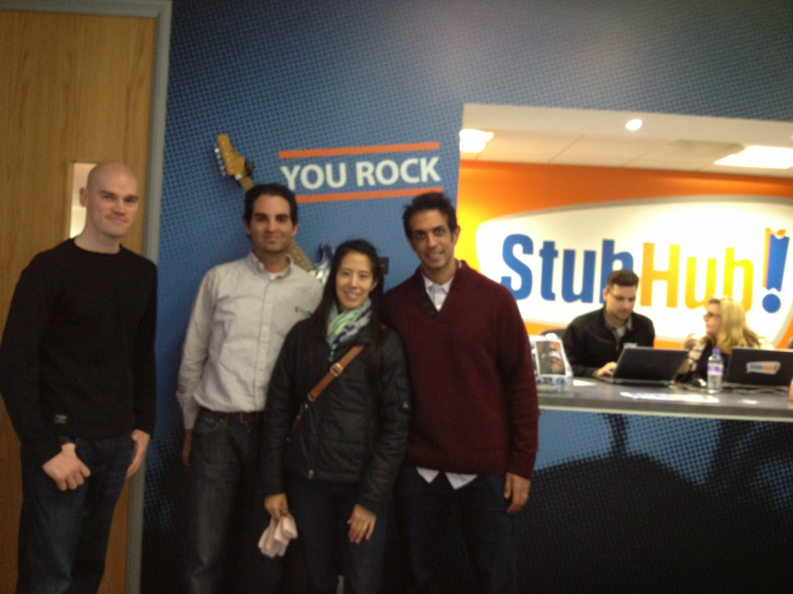 London - First stop, the StubHub! London office
