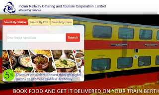 IRCTC : e-catering services