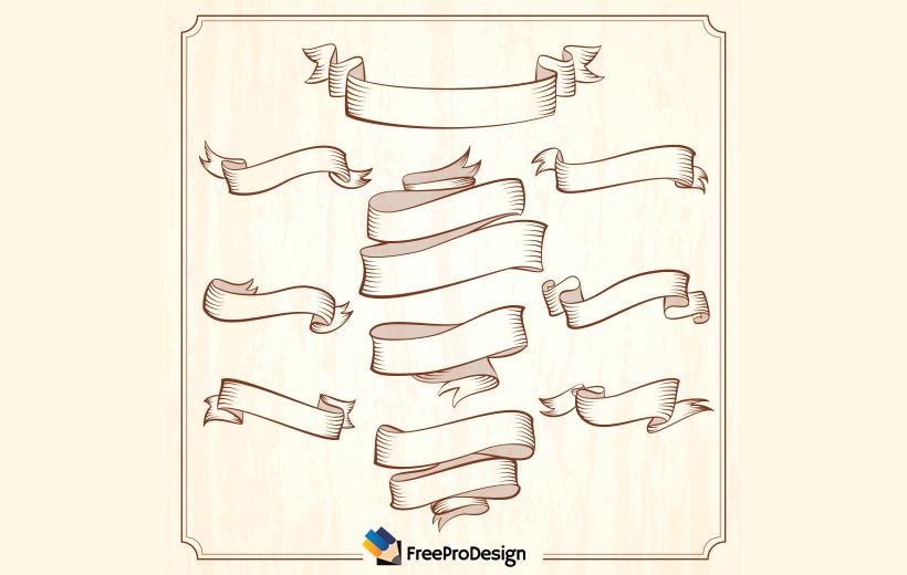 ribbon vector for graphic designer, ribbon set