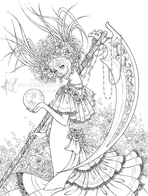 la santa muerte coloring pages - photo #28