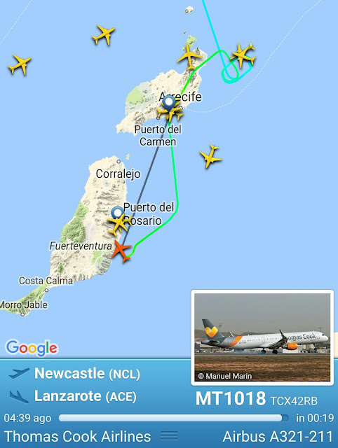 El mal tiempo en Gran Canaria y Lanzarote, domingo 6 de noviembre,hace desviar vuelos a Fuerteventura