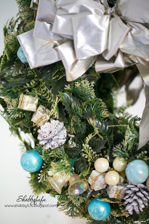 aqua and silver christmas