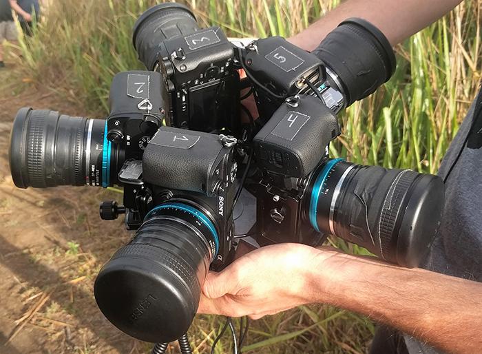 Съемка 360-градусного VR-видео на несколько Sony A6300. Источник: Тим Тильден