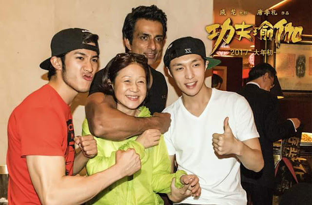 Sonu Sood with Kung Fu Yoga Movie Co-stars