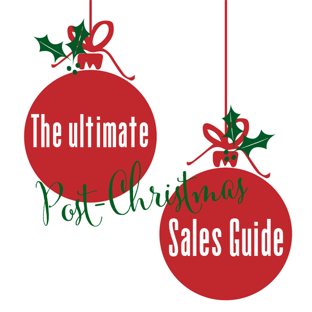 Where to get the best deals for post-christmas sales!