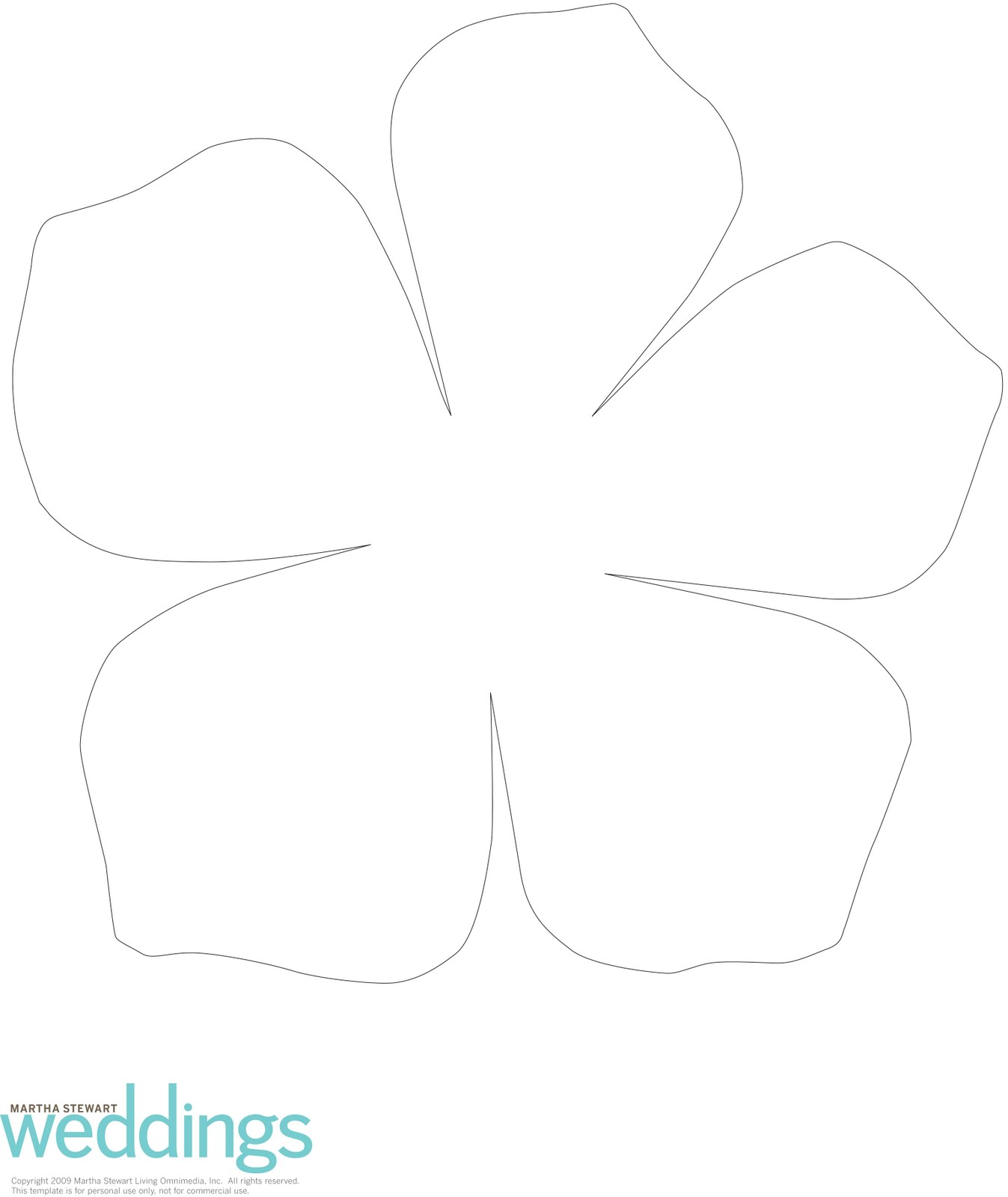 Mel stampz a study in white two 3d flower templates for Flower template 5 petals
