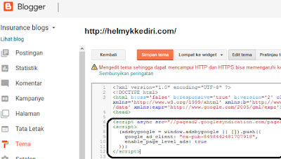 Cara mendaftarkan blog kegoogle adsense 1