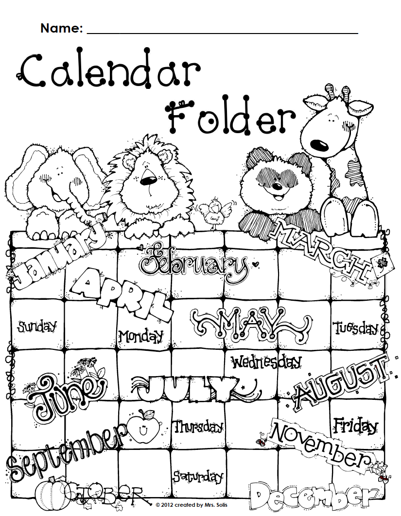 Mrs. Solis's Teaching Treasures: Calendar Binder Covers