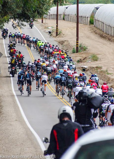 Bike race down the road