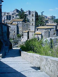The quaint medieval area of Ronciglione, Mengoni's home town in Lazio