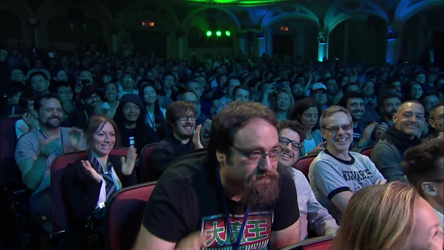 Grant Kirkhope Ubisoft E3 2017 Mario + Rabbids Kingdom Battle composer audience Bowser neckbeard guy