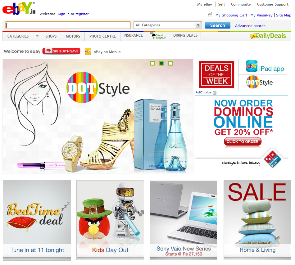 Ebay in india online shopping