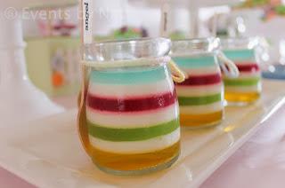 Pastel rainbow layered jelly